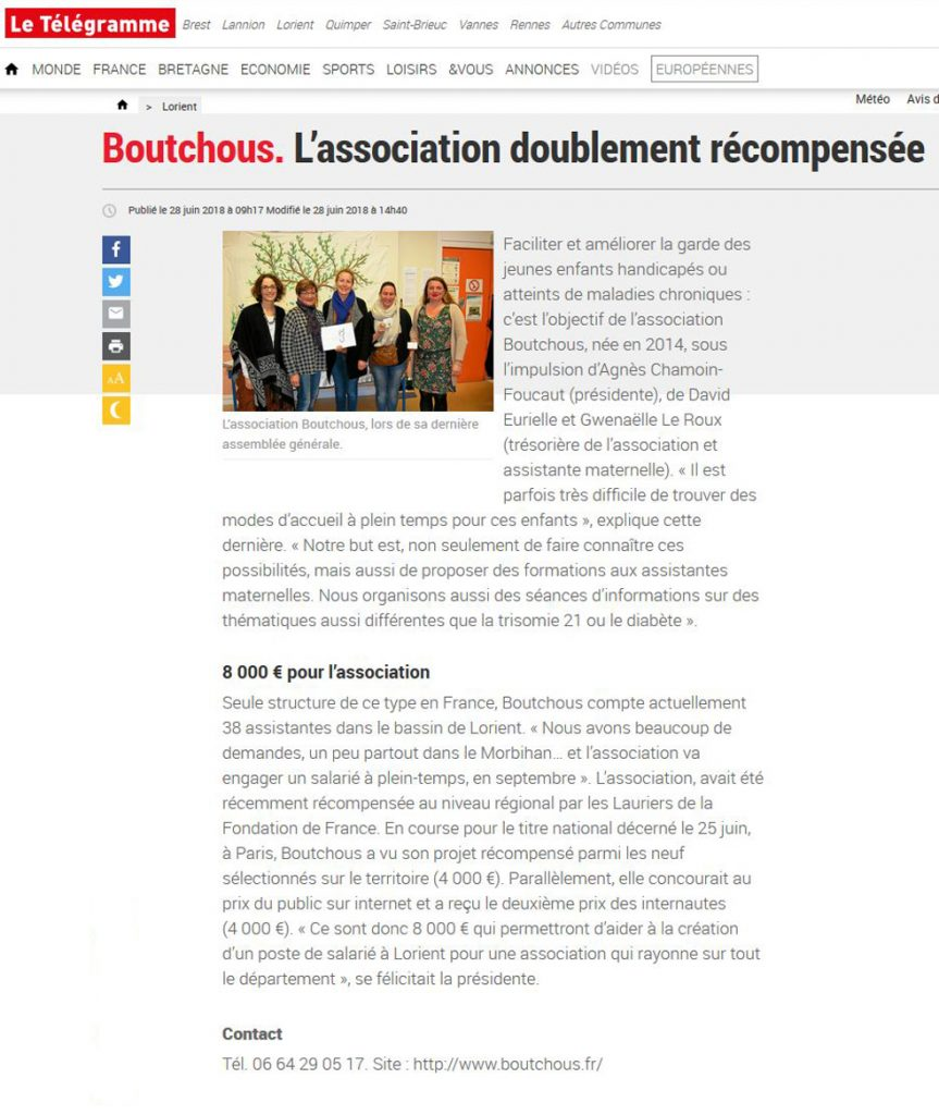 Boutchous : l'association récompensée par la Fondation de France