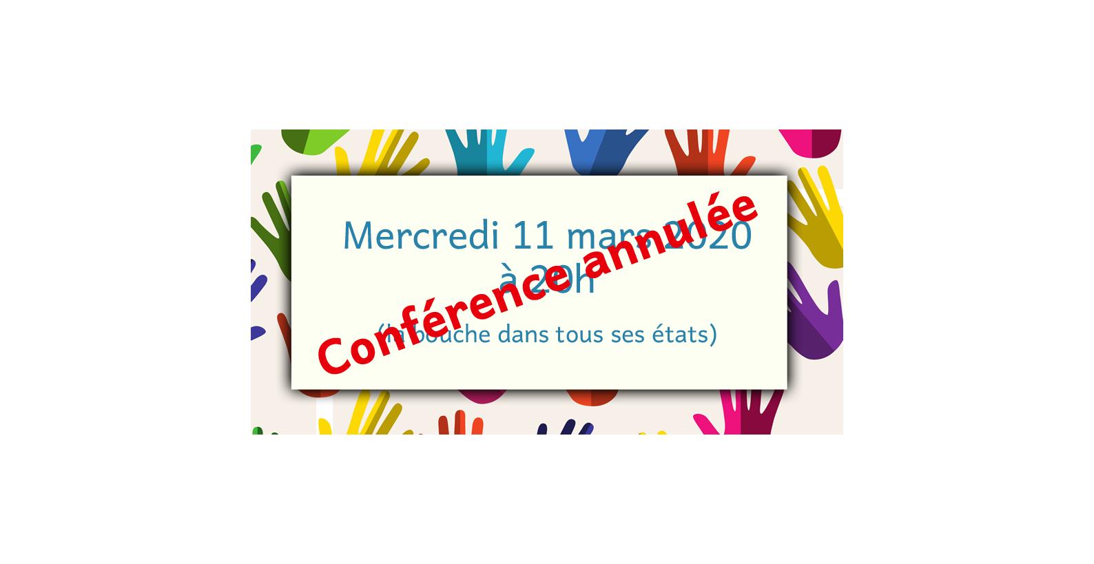 Conférence annulée
